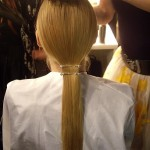 Get the LFW look: Todd Lynn's pinned ponytail