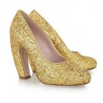 Chic Shoegasms: Miu Miu glitter-finish leather pumps