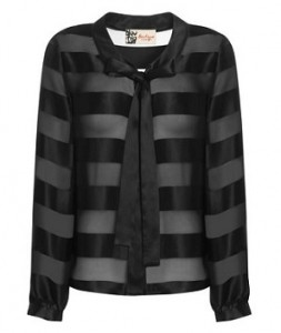 Boutique stripe silk shirt