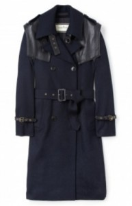 By Malene Birger leather shoulder wool mackintosh