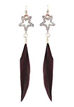 Lunchtime buy: Dicha Mia Inca feather and crystal earrings