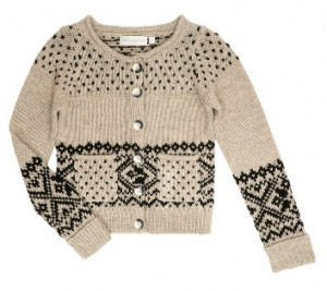 Edina Ronay fairisle pocket cardigan