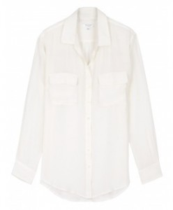 Equipment white silk shirt