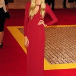 Gabriella Wilde is the Lady in Red in London
