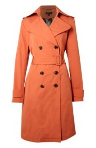 House of Fraser orange trench coat
