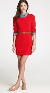 J Crew cashmere tee dress