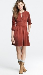 J Crew corduroy shirt dress