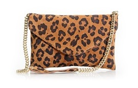 J Crew leopard clutch