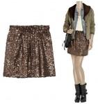 J Crew sequin-embellished skirt