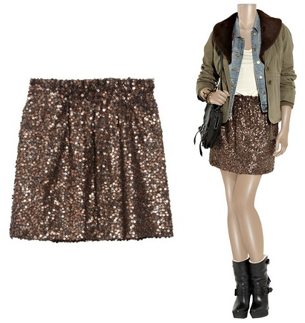 J Crew sequin-embellished skirt