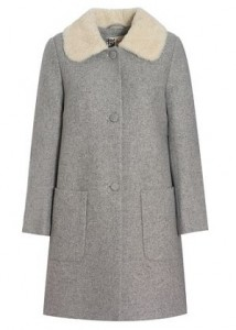 Jaeger Boutique shearling collar coat
