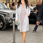Jessica Biel does pastel-pretty at Paris Fashion Week