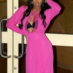 Kelly Rowland flashes a little too much leaving the X Factor studios