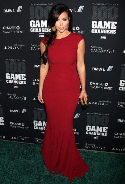 Kim Kardashian channels Jessica Rabbit at the Game Changers Awards