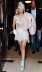Lady Gaga White dress London