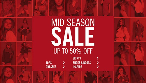 Get 50% off in New Look's mid-season sale!