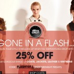 Get 25% off coats, knits and leather at Oasis until midnight tomorrow!