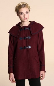 Pins & Needles burgundy duffle coat