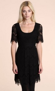 Pins and needles black lace dress
