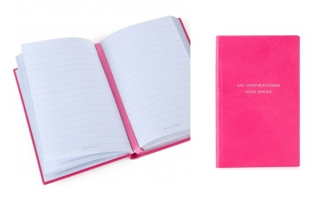 Monday must-have: Smythson exclusive pink notebook for Breakthrough Breast Cancer