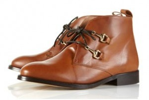Topshop Ashford snaffle lace up boots
