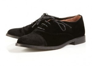 Topshop Karyss lace up velvet shoes
