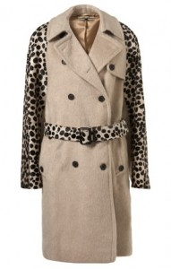 Topshop Unique Dalmatian trench coat