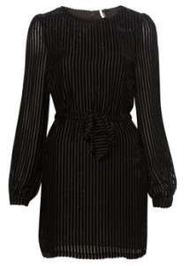 Topshop Velvet Stripe Dress