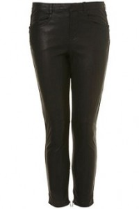 Topshop leather trousers