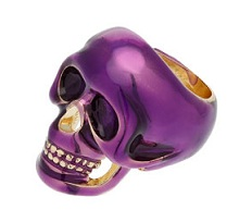 Topshop purple skull ring