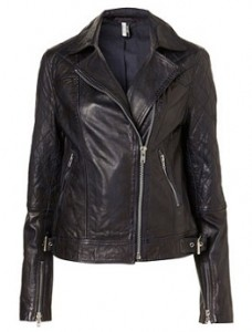 Topshop quilted leather biker