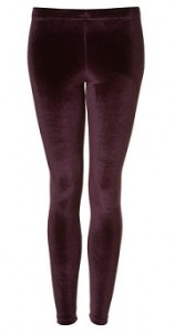 Topshop velvet leggings