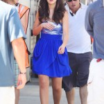 Zooey Deschanel looks cute on the set of 'New Girl'
