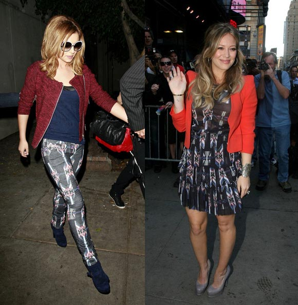X Factor fashion in its most literal form, courtesy of Cheryl Cole and Hilary Duff