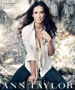 demi moore ann taylor christmas ad campaign