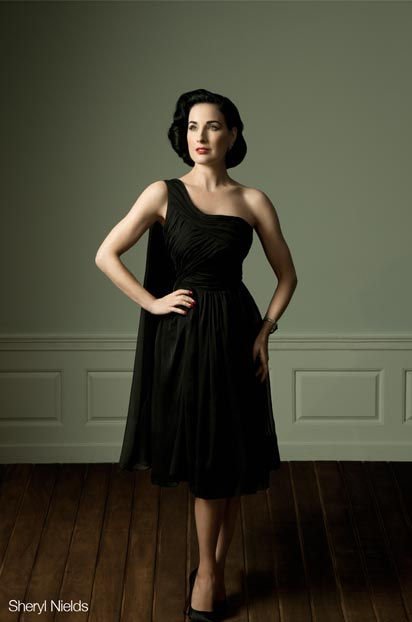 First Look: Dita Von Teese's capsule dress collection
