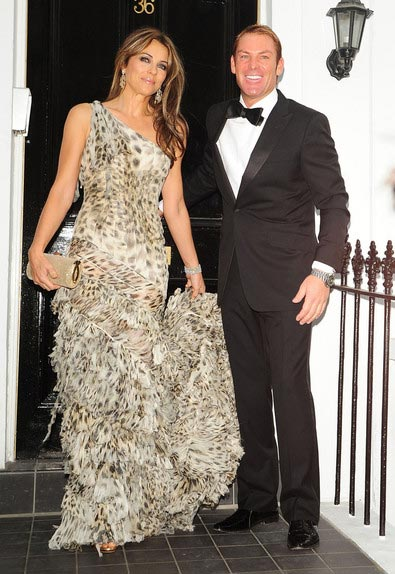 Elizabeth Hurley and Shane Warne get engaged 2011