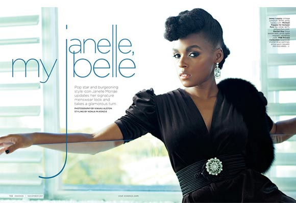 Janelle Monàe embraces her girly side in Essence magazine