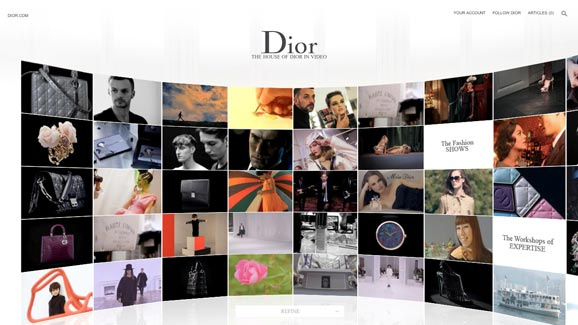 The brand new Dior.com website launches TODAY!