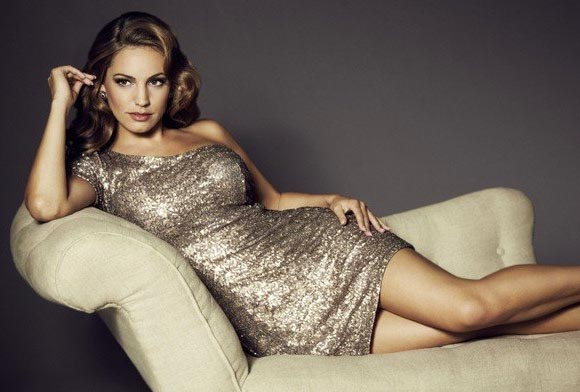 Kelly Brook models New Look's fabulous party dresses!