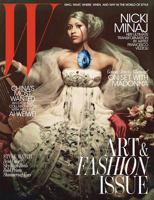 nicki minaj w magazine art and fashion issue