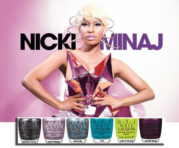 nicki minaj opi nail polish