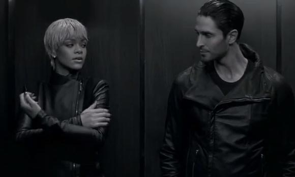 Watch Rihanna's sexy Armani film noir video
