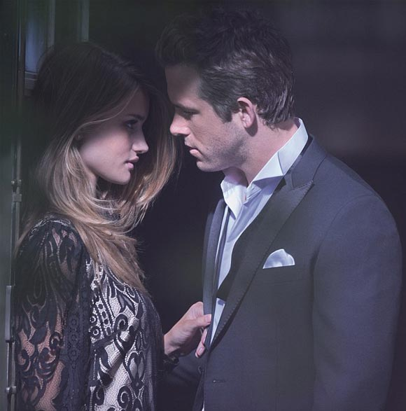 Rosie Huntington Whiteley and Ryan Reynolds Marks and Spencer Autumn Winter 2011 ad campaigns