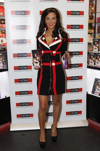 X Factor's Tulisa launches her The Female Boss fragrance in Oxford Street