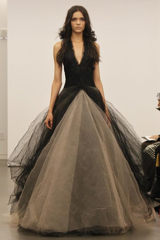 vera wang black wedding dresses bridal fashion week 2011