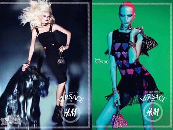 BRAND NEW Versace for H&M ad campaigns surface!