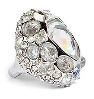 Alexis Bittar zair silver druzy droplet ring