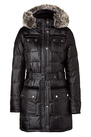 Barbour black arctic down parka