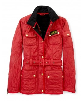 Lunchtime buy: Barbour red international polar quilt jacket